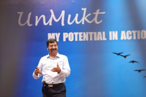 Arun Jain in action during one of the 'Unmukt' sessions.